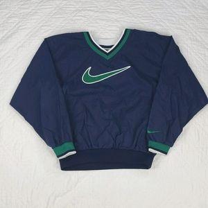 VTG Nike Blue and Green Pullover Windbreaker L